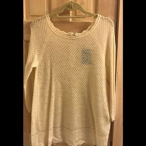 Anthropologie (by Moth) cream knit sweater